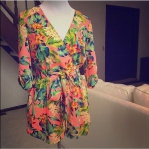 TROPICAL PRINT GIANNI BINI ROMPER